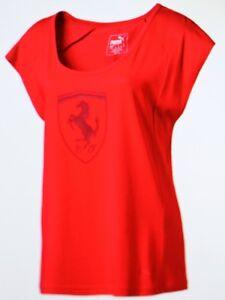461feaaa01e1 Das Bild wird geladen F10-Puma-Damen-Shirt-Ferrari-Groesse-34-Rot-