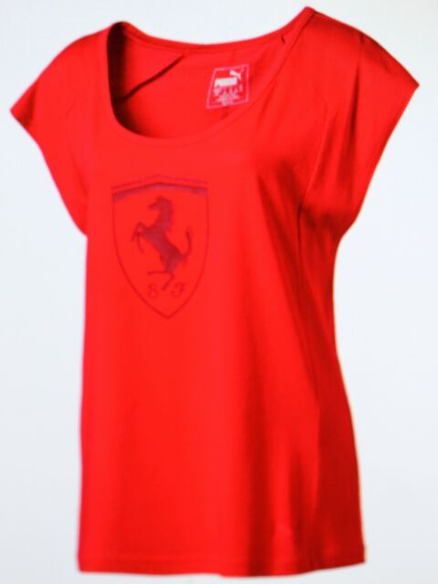 365b715f141a PUMA Ferrari Womens Sport T-shirt F1 Car Size 8-14 T Shirt Shield 12 ...