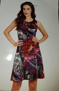 Nuovo Dress 10 nero Pattern Designer Frank Lyman Arancione tag zecca Uk i di con AqSw4A