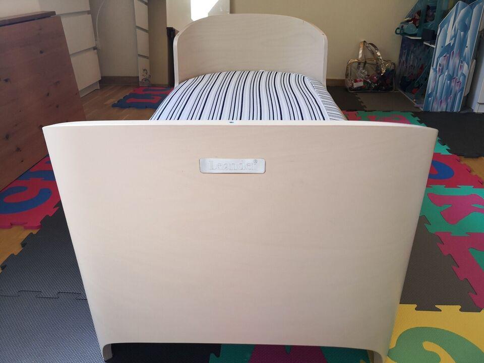 Vugge, Leander classic white wash vugge og junior seng