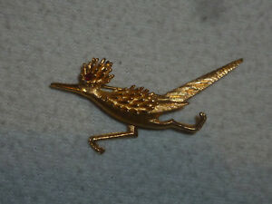 206dc5cd910e Image is loading VINTAGE-BOUCHER-GOLD-TONE-ROAD-RUNNER-PIN-FIGURAL-