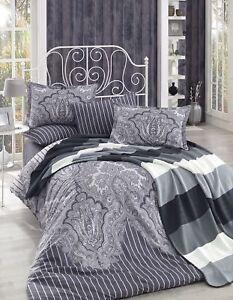 Bettwäsche 200x220 Cm Bettgarnitur Bettbezug Baumwolle Kissen 6 Tlg