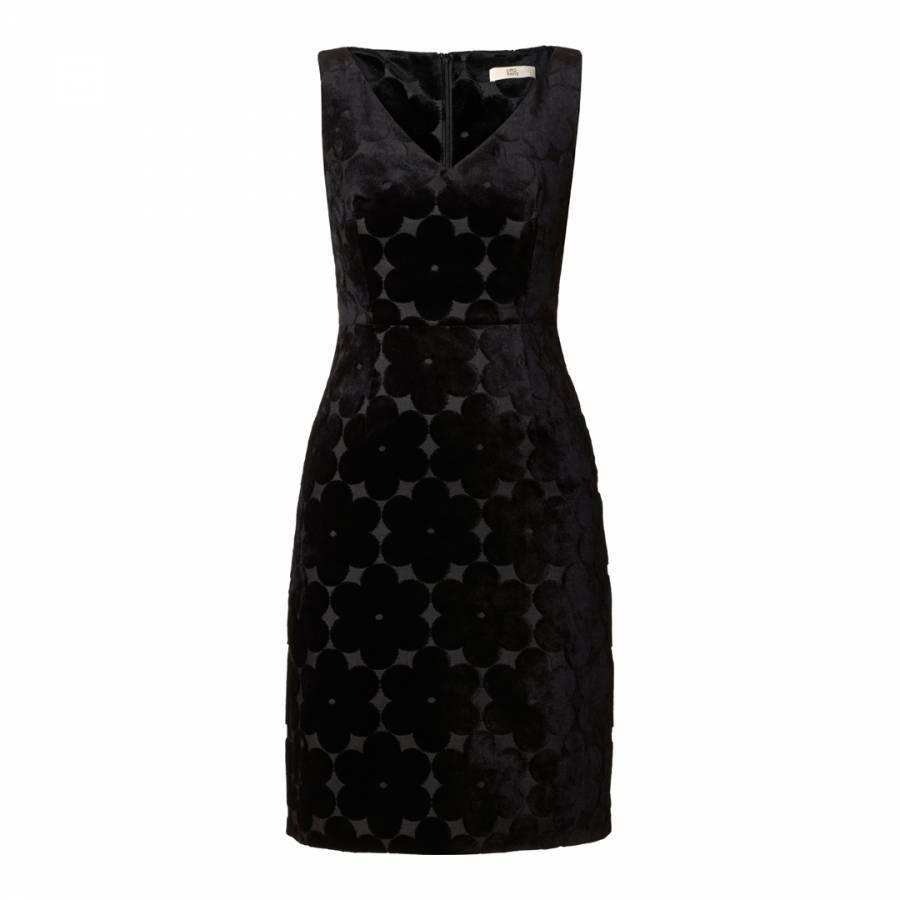Orla Kiely Negro Flor del telar  jacquar Cuello en V Vestido de Reino Unido 8   Bolsa Abrigo Chaqueta Camisa Top  aquí tiene la última