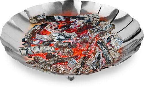 Durchmesser 27 cm Edelstahl Camping Feuerschale mit 17 faltbaren Lamellen