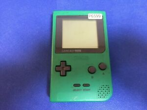 P6599-Nintendo-Gameboy-pocket-console-Green-GBP-Japan-Junk-For-parts-DHL