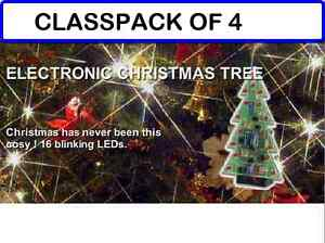 Musical Christmas Lights.Details About Pack Of 4 Musical Christmas Tree W Flashing Leds And 3 Christmas Songs Diy Kit