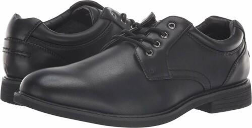 GBX ZAYNE Mens Black 138181 Lace Up Plain Toe Dress Shoes