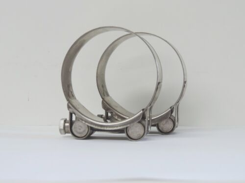 """NEW Qty 2 Hose Clamp Stainless Steel 55-59 mm ID T Bolt SS 2/"""""""