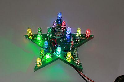 DIY COLORFUL FLASHING STAR learning ELECTRONIC LED PCB Assembling KIT