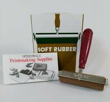 Printmasters No 4126 Speedball Soft Rubber Roller Amp Ink No 64 Brayer