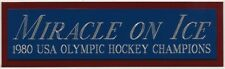 MIRACLE ON ICE 1980 USA NAMEPLATE FOR AUTOGRAPHED Signed HOCKEY STICK-PHOTO-PUCK