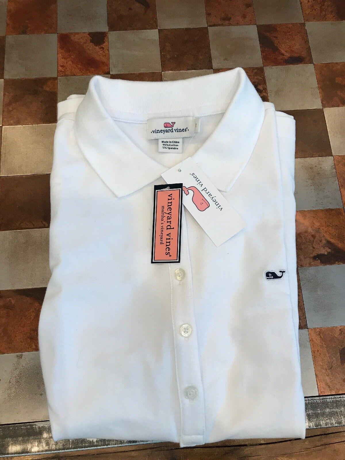 damen's Vineyard Vines Weiß Polo Shirt - Extra Small NWT