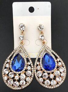 Elegante-Goccia-Grande-orecchini-da-Donna-con-cristalli-6-colori
