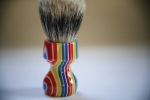 Multicolored-Resin-Manchurian-Brush-27-5x51mm-2-Band-Badger-Italia-Zenith-M14