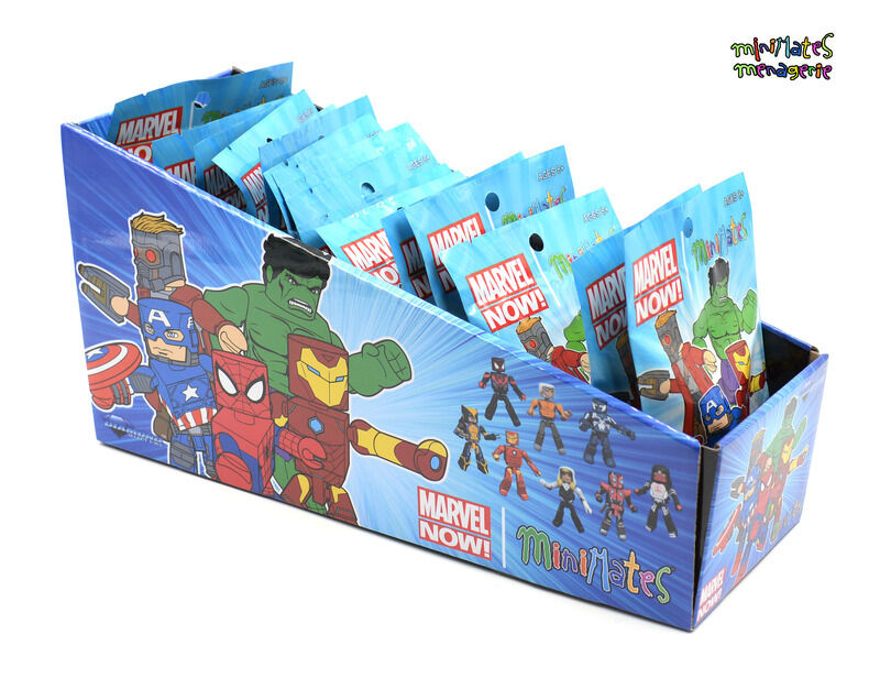 Marvel Minimates Marvel Now Series 1 Counter Dump Sealed Case of 18 with Silk
