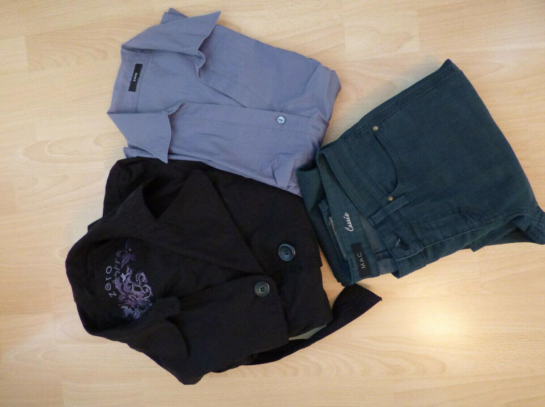 Damenmode Outfit 3 Teile: ZERO u. MAC, Gr. 40 Schwarz, Petrol