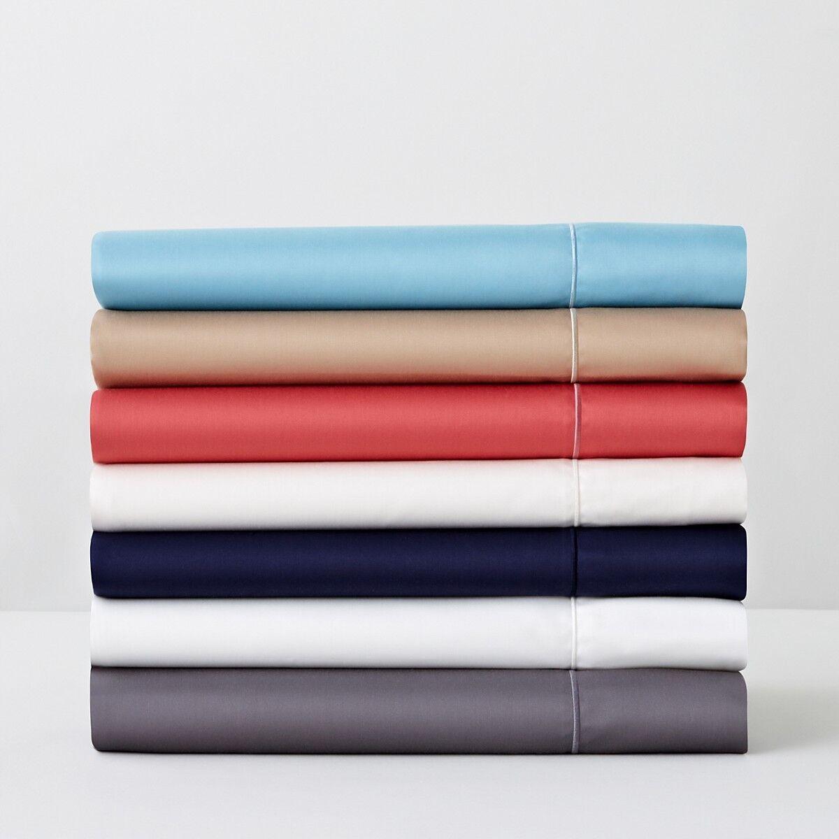 HUDSON PARK 500 Thread Count TWIN   TWIN XL Duvet Cover AZURE blueE Y343
