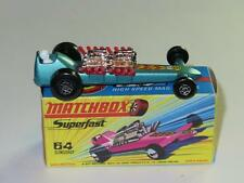 MATCHBOX SUPERFAST 64 Slingshot Dragster Metallic Blue/Grey MINT in H2 Box