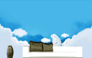 3D blueer Himmel Wolken Bär 52 Tapete Tapeten Mauer Foto Familie Wandgemälde
