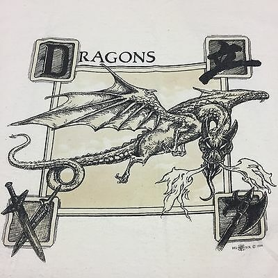 Dragon Xl T-shirt Knight Medieval Mythology Myth Serpent Castle Knight Fang