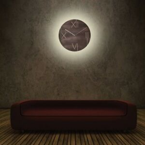 Galileo 43cm Leuchtend Braun Nextime Wanduhr Rund Details Led Beleuchtet 3104br Zu Yyv6bfg7