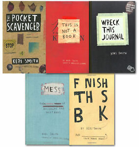 Keri Smith 5 Books Collection Set Wreck This Journal Pocket Scavenger NEW 9783200328488