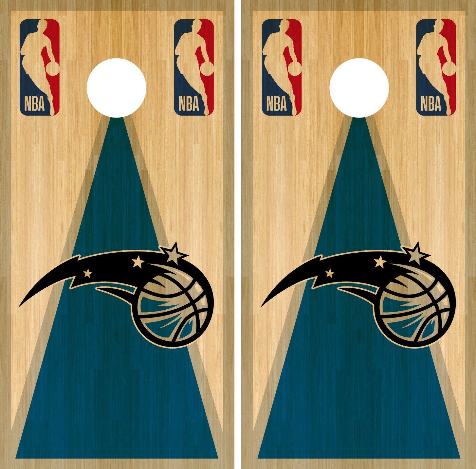Orlando Magic Cornhole Wrap NBA Game Board Skin Vinyl Decal Vintage Set CO677