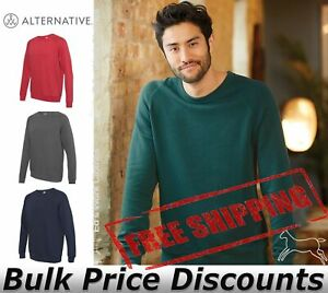 Alternative-Mens-Champ-Lightweight-Washed-French-Terry-Pullover-9575CT-up-to-3XL