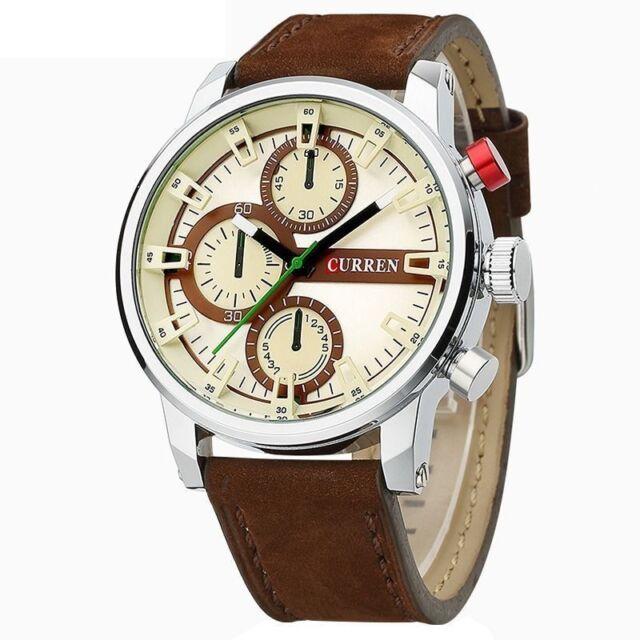 Curren Men's Leather Strap Luxury Style Quartz Wristwatches FREE SHIPPING