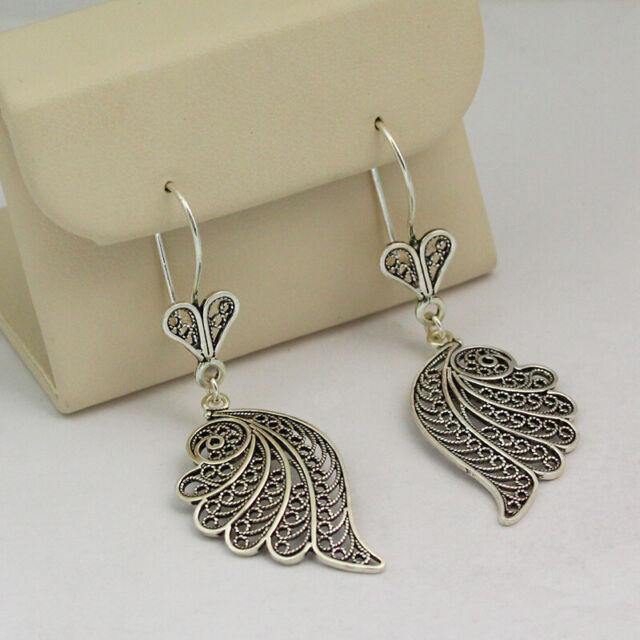 Fringe Dangle Earrings on Sterling Silver French Backs