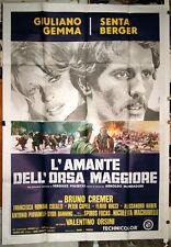 Giuliano Gemma Senta Berger L'AMANTE DELL'ORSA MAGGIORE manifesto 4F orig. 1971