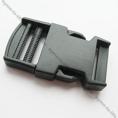 "5/10/50 pcs Black plastic Strong side release Buckle For 1-1/4"" webbing M017-31"
