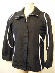 Womens Zx Zeroxposur Sz Medium Black Zip Button Up Coat