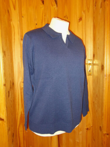 Collared Long Nuovo Top Sleeve Bnwot Bnip Blue Maglione 52 Balsamik 24 waEqg5Bxx