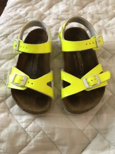c11f666ae72d Image is loading Birkenstock-sandals-kid-youth-Rio-bright-Neon-Yellow-
