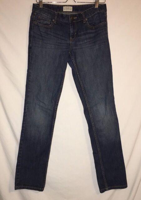 Aeropostale Women's Juniors Bayla Skinny Denim Jeans Size 5/6 Short Medium Wash