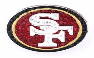 SAN-FRANCISCO-49ers-Pin-Brooch-Bling-SPARKLE-amp-SHINE-NFL-Football