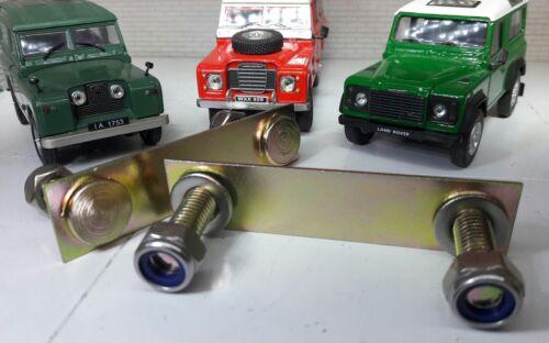 Land Rover Série 2 2 A 3 Defender cloison Sill Boulon Plaque inoxydable écrou x2