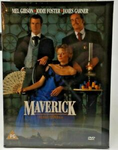 Maverick 1994 Dvd Mel Gibson Jodie Foster James Garner Graham Greene Ebay