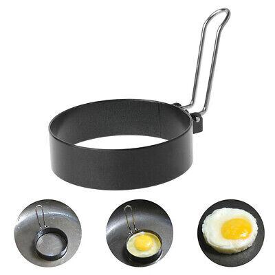 2x Nonstick Spiegelei Form mit Griff Runde Pfannkuchen Formen Eier Bratform EW