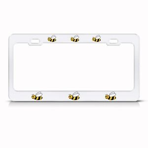BUMBLE BEE Metal License Plate Frame Tag Holder Two Holes