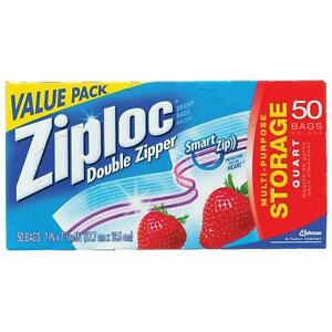 Ziploc-Heavy-Duty-Doppio-Cerniera-Congelatore-Borse-Di-Stoccaggio-Quart-Sacchetti-Ziplock-Genuine