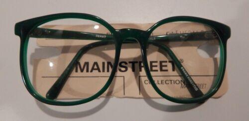Vintage Mainstreet Jenny Emerald 56//21 P3 Round Eyeglass Frame NOS #258
