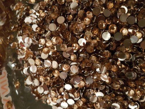 1440 5mm Ss20 non hotfix clear JEWEL acrylic Champagne  RHINESTONE Bead
