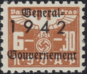 Stamp-Germany-Revenue-Poland-WWII-1942-3rd-Reich-War-Era-Party-Dues-GG-06-30-MNH