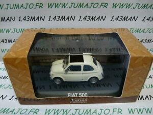 IT1G-voiture-1-43-atlas-NOREV-voiture-de-mon-pere-FIAT-500-blanche