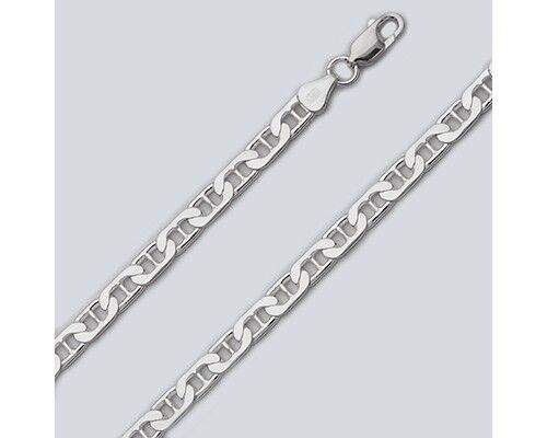 Sterling Silver Men/'s Necklace Marina Anchor Flat Link Chain 925 Italy Wholesale