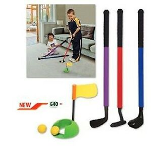 New-Mylec-Youth-Plastic-6-Piece-Golf-Club-Set-Chipper-Putter-Driver-Putting-Ring