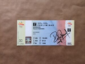 Barcelona Olympics Volleyball 1992 Ticket Signed Rafa Pascual