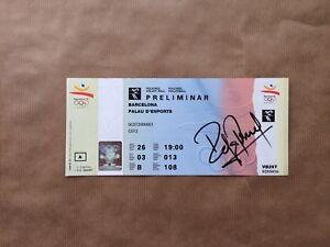 Barcelona-Olympics-Volleyball-1992-Ticket-Signed-Rafa-Pascual